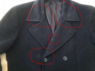 クリーニング前コート(印付き)