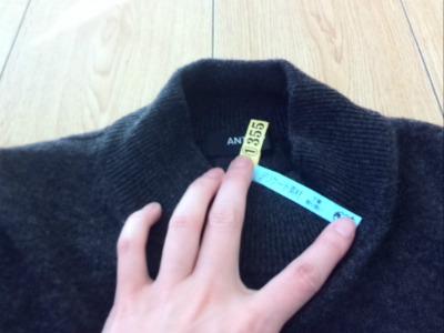 クリーニング後セーター